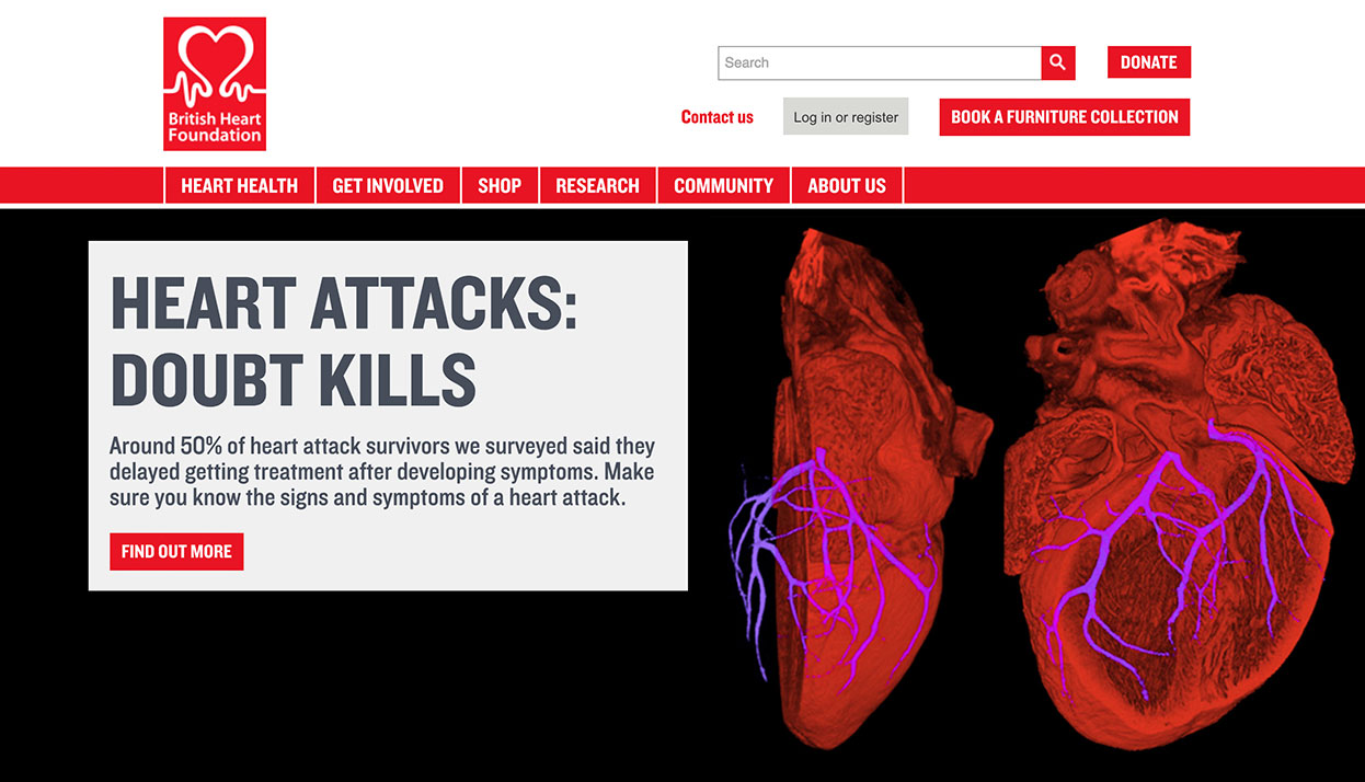 British Heart Foundation home page