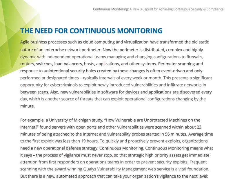 Continuous monitoring a new blueprint for achieving continuous continuous monitoring a new blueprint for achieving continuous security compliance malvernweather Image collections