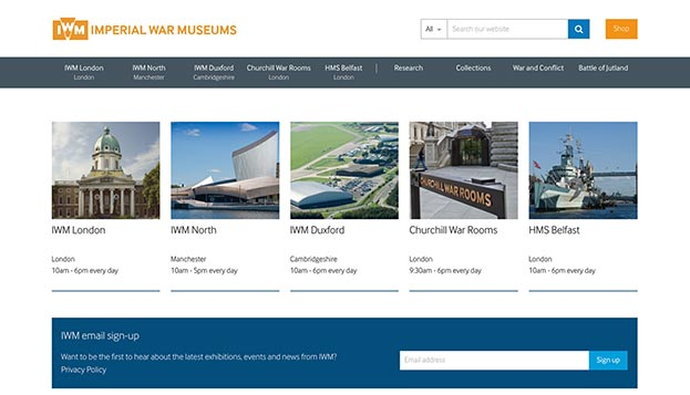 Imperial War Museums home page