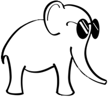 Blind Elephant open source project logo