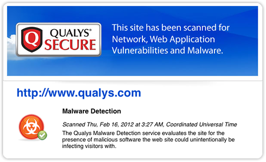 Qualys SECURE Seal Malware Detection