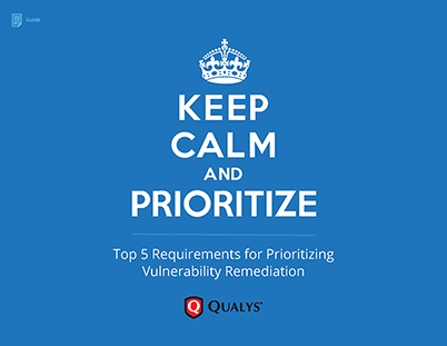 Top 5 Requirements for Prioritizing Vulnerability Remediation whitepaper cover page