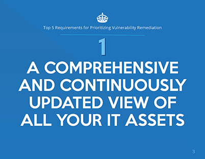 Top 5 Requirements for Prioritizing Vulnerability Remediation whitepaper page 1