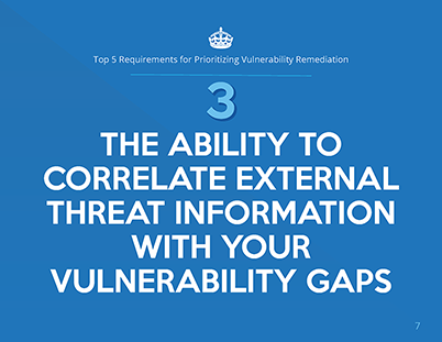 Top 5 Requirements for Prioritizing Vulnerability Remediation whitepaper page 3