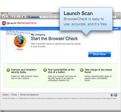 BrowserCheck is easy to use, accurate, and it's free